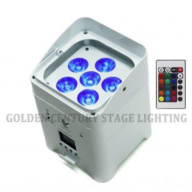 Batter Par Light 6 15W RGBWA+UV 6 in 1 LED Batter Par