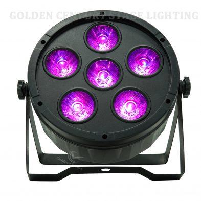 6 in 1 LED Flat Par Light RGBWA UV