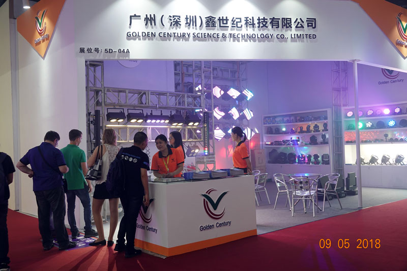Golden Century stage lighting 2018 GET show Booth No.in Guangzhou China