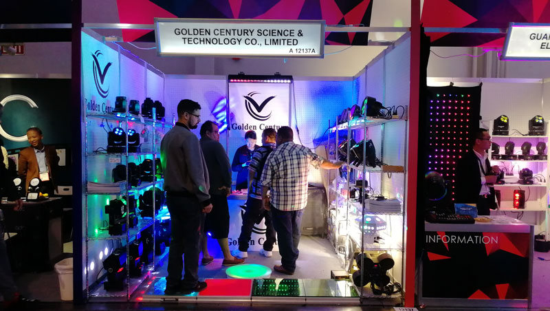 Golden Century stage lighting 2018 NAMM show Booth No. in USA