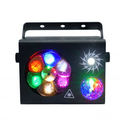 LE411 Mini 4 in 1 Effect Light Magic ball Laser Strobe light Pattern lighting Positive