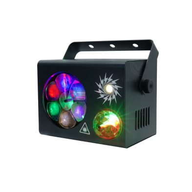 LE411 Mini 4 in 1 Effect Light Magic ball Laser Strobe light Pattern lighting effect picture