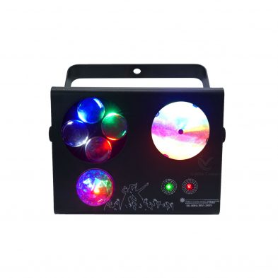 LE413 Mini 4 in 1 Effect Light magic ball bubbles lines and laser patterns Positive