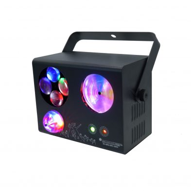 LE413 Mini 4 in 1 Effect Light magic ball bubbles lines and laser patterns side